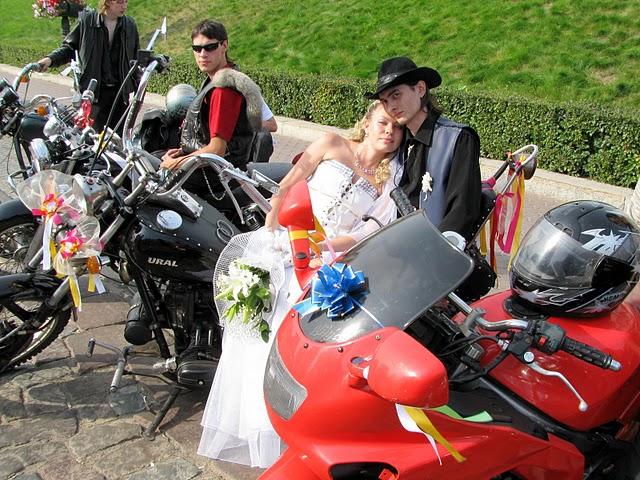 Biker wedding